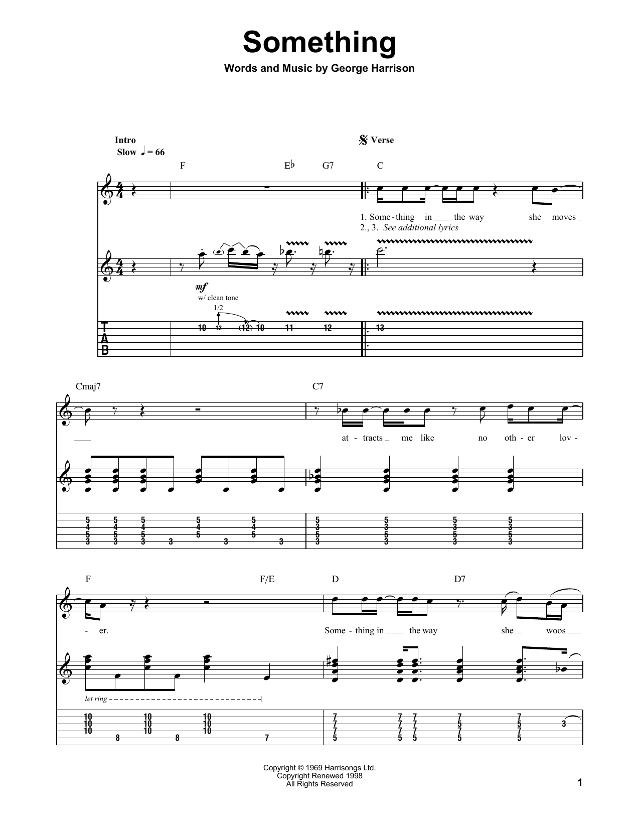 Something Sheet Music