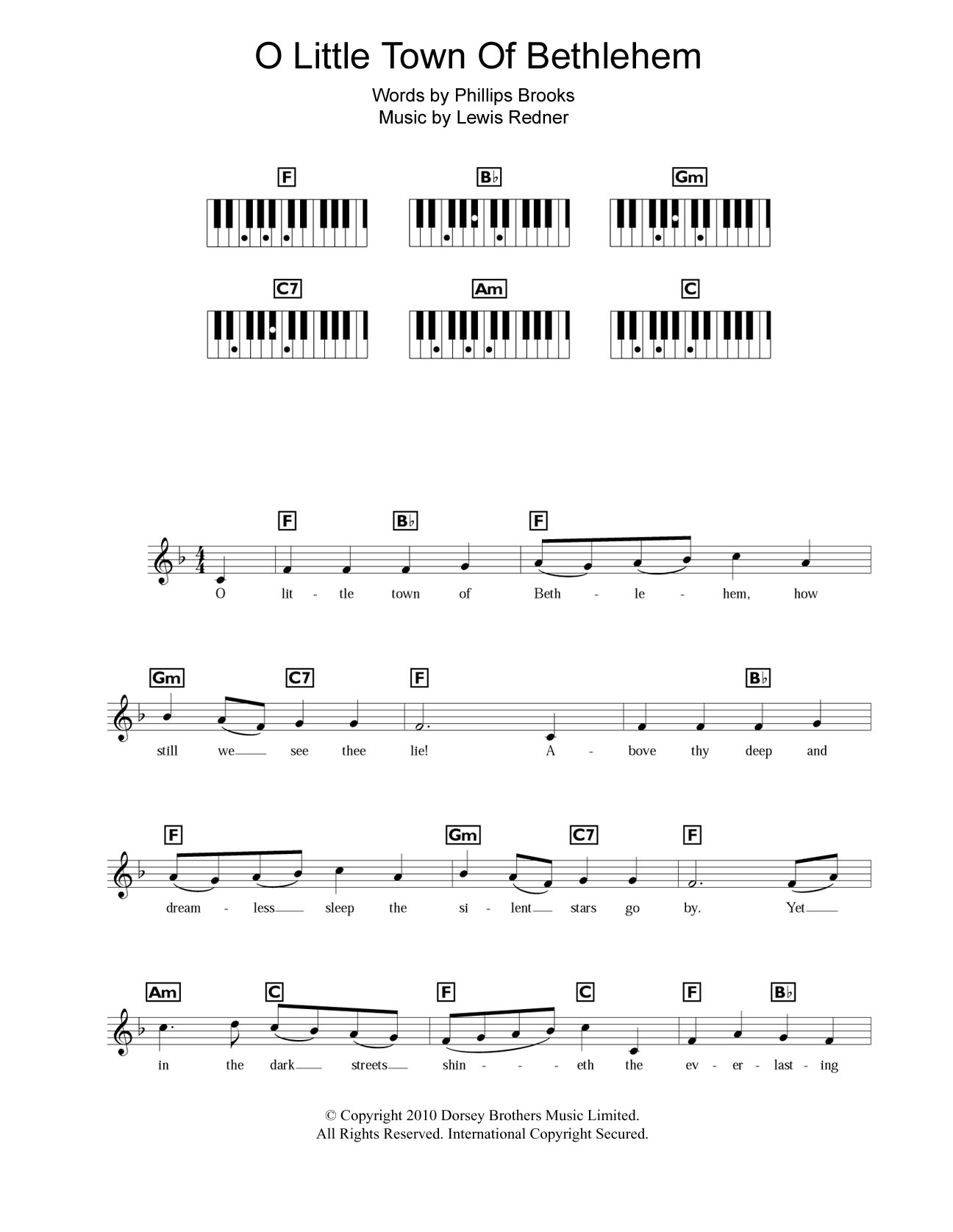 Magnificent Oh Little Town Of Bethlehem Guitar Chords Pictures