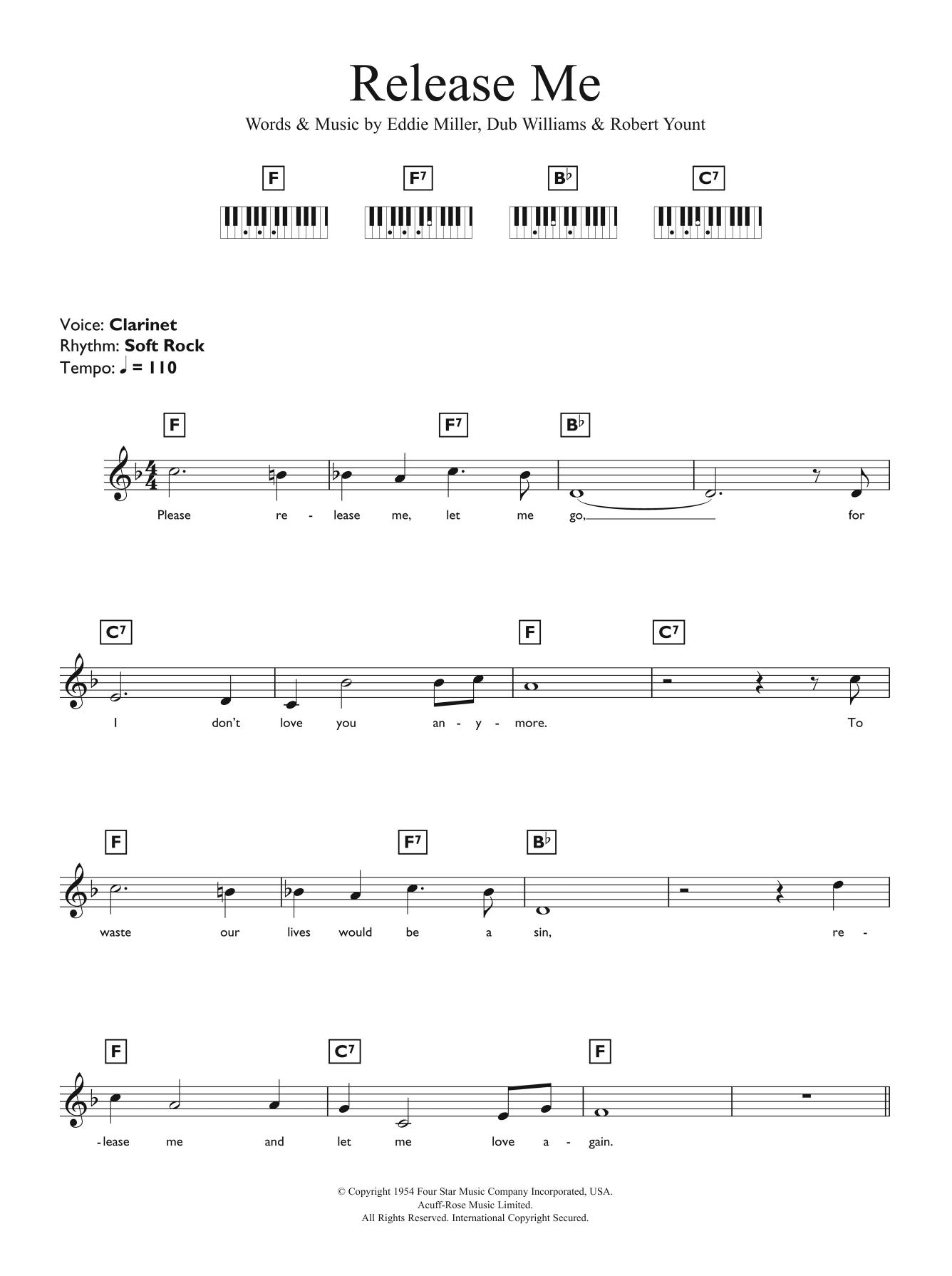 Release Me Sheet Music