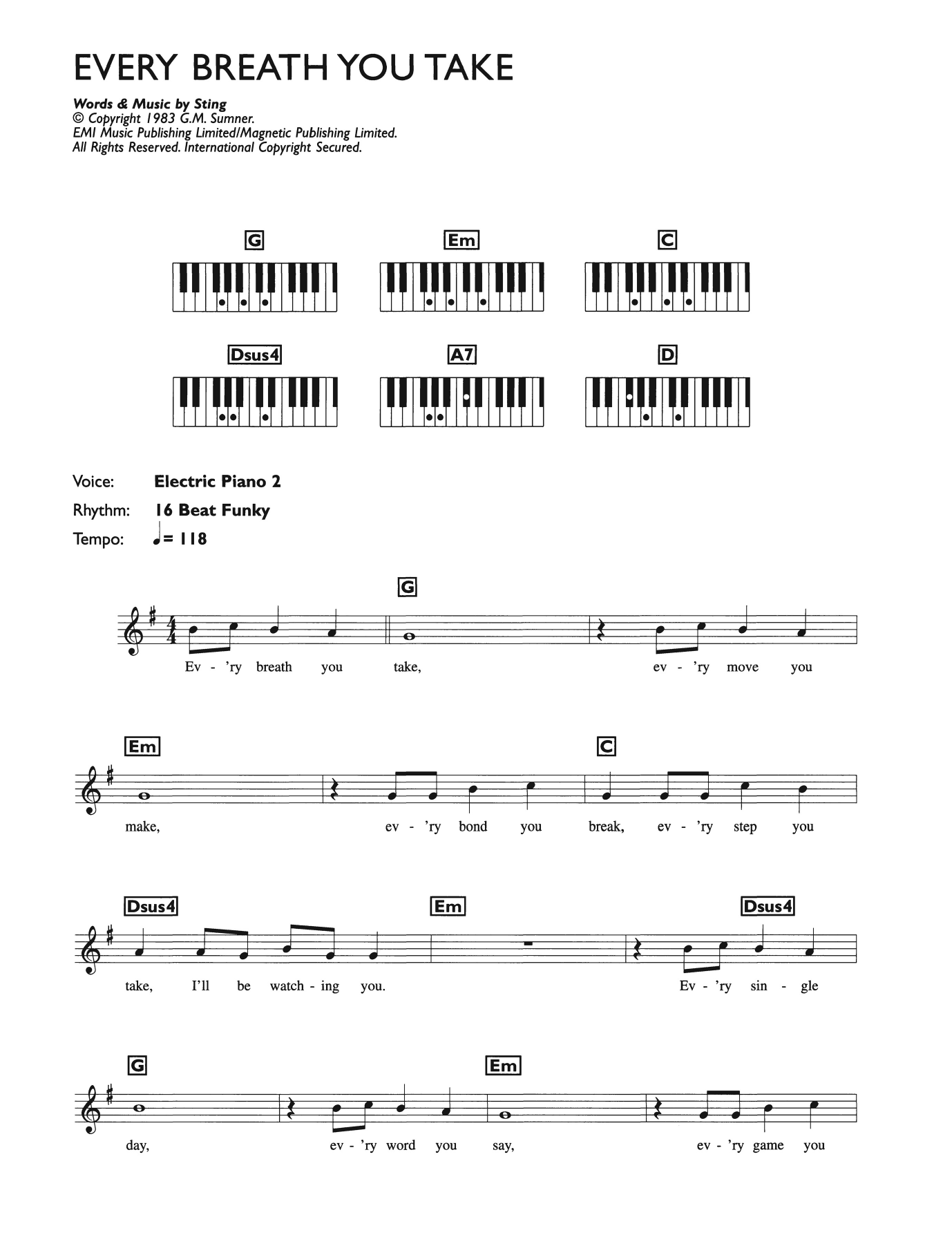 Sheet Music Digital Files To Print - Licensed Piano Chords