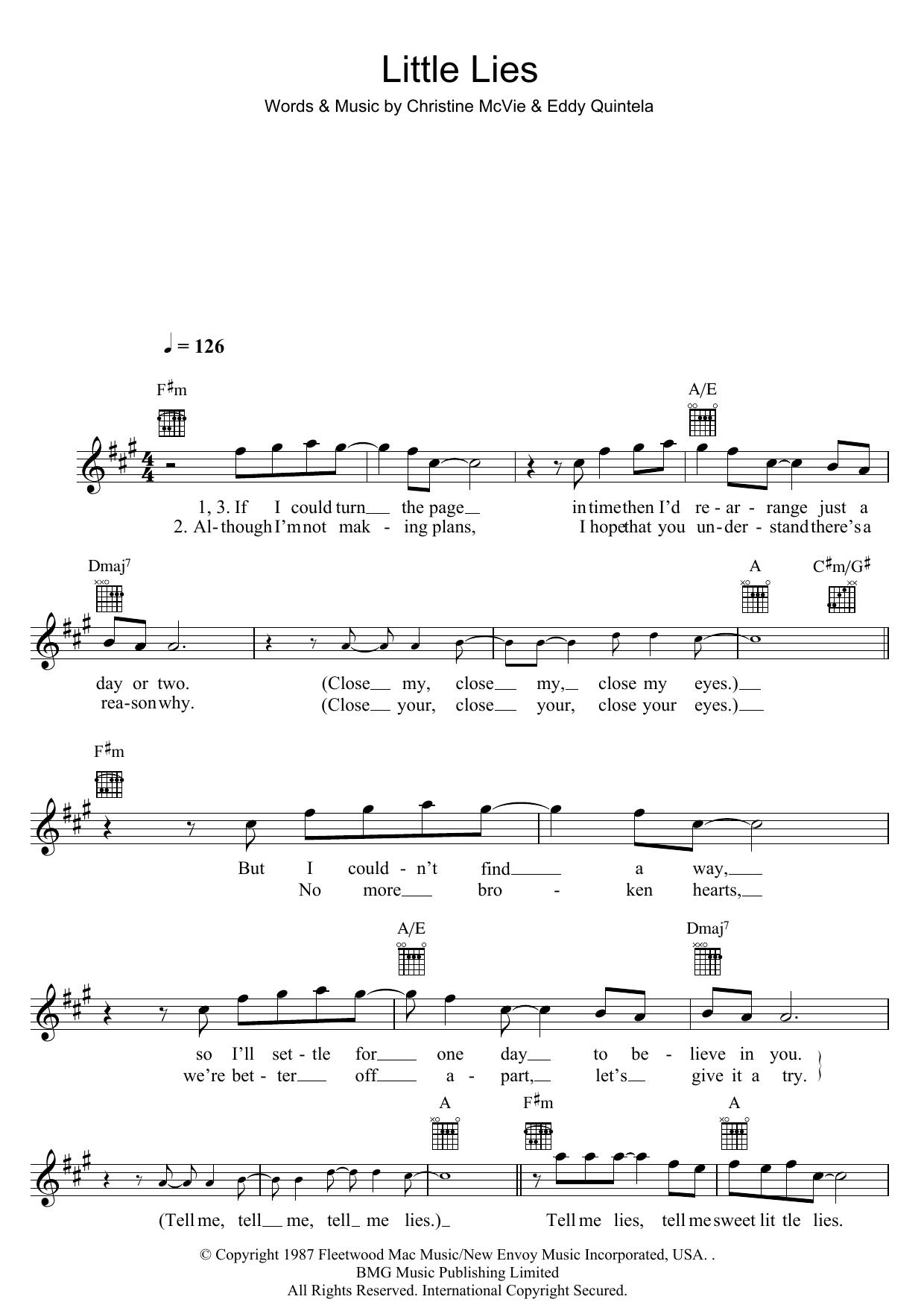 Little Lies Sheet Music