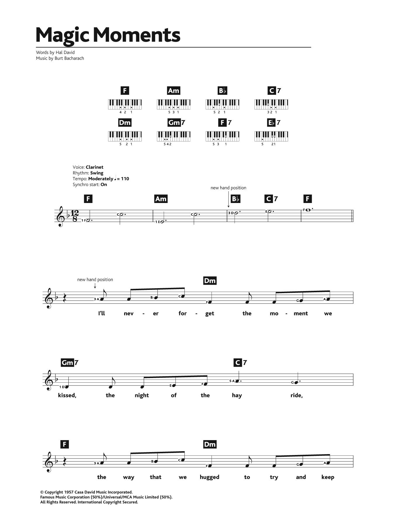 Magic Moments Sheet Music