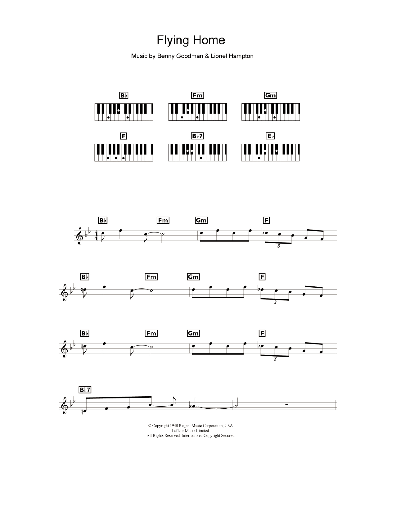 Flying Home Sheet Music