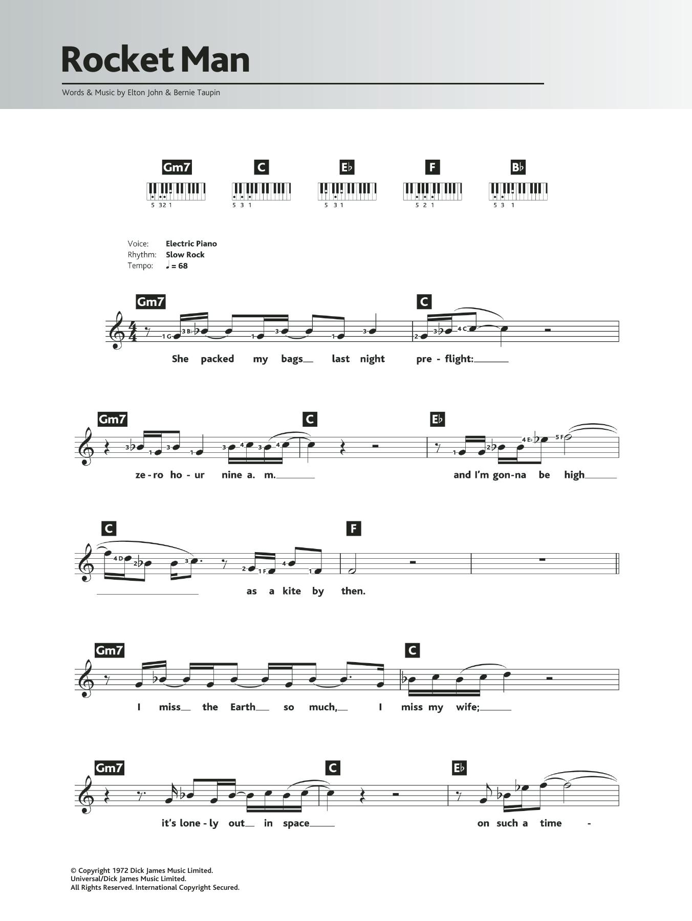 Rocket Man Sheet Music