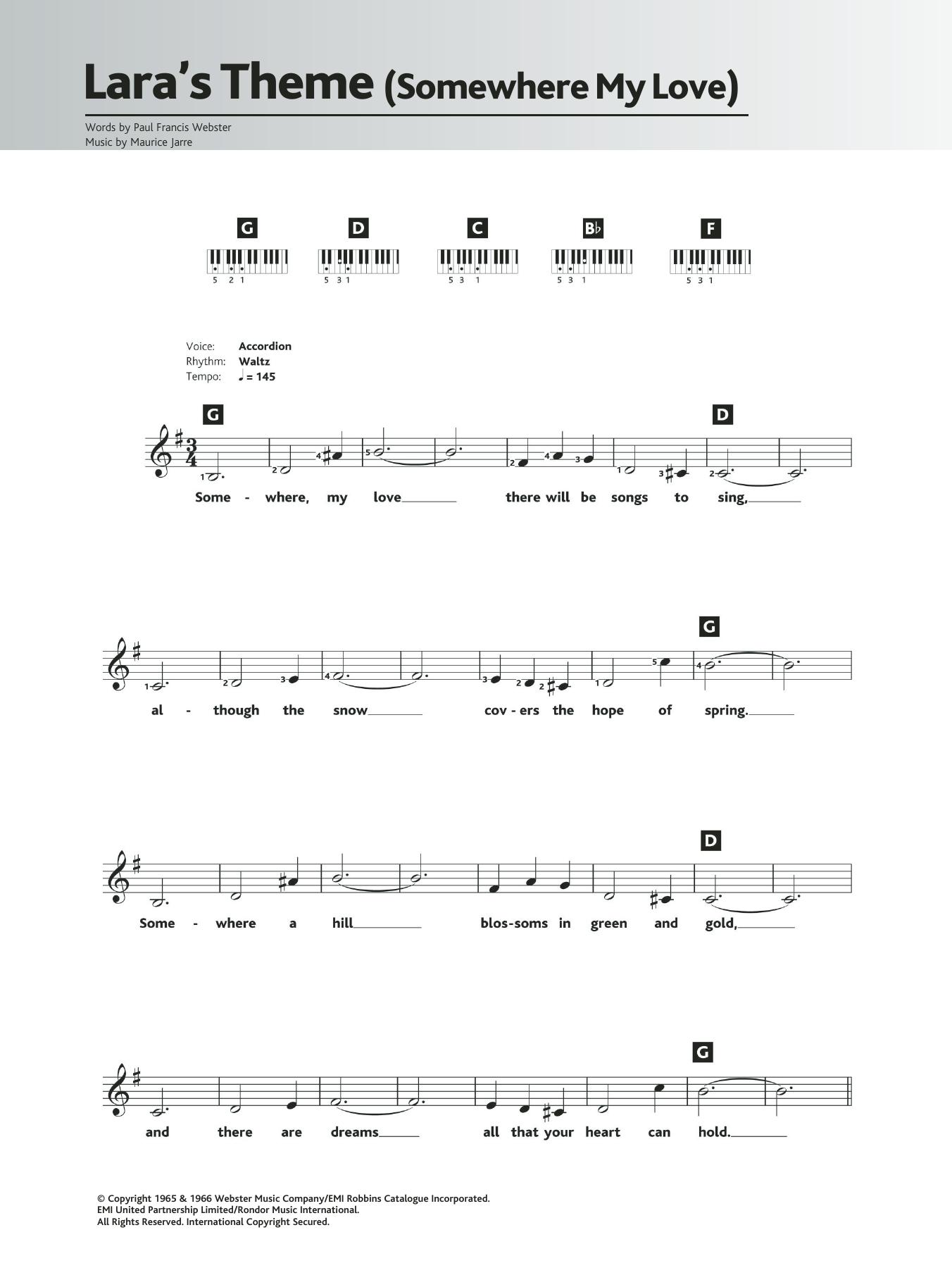 Somewhere My Love (Lara's Theme) Sheet Music