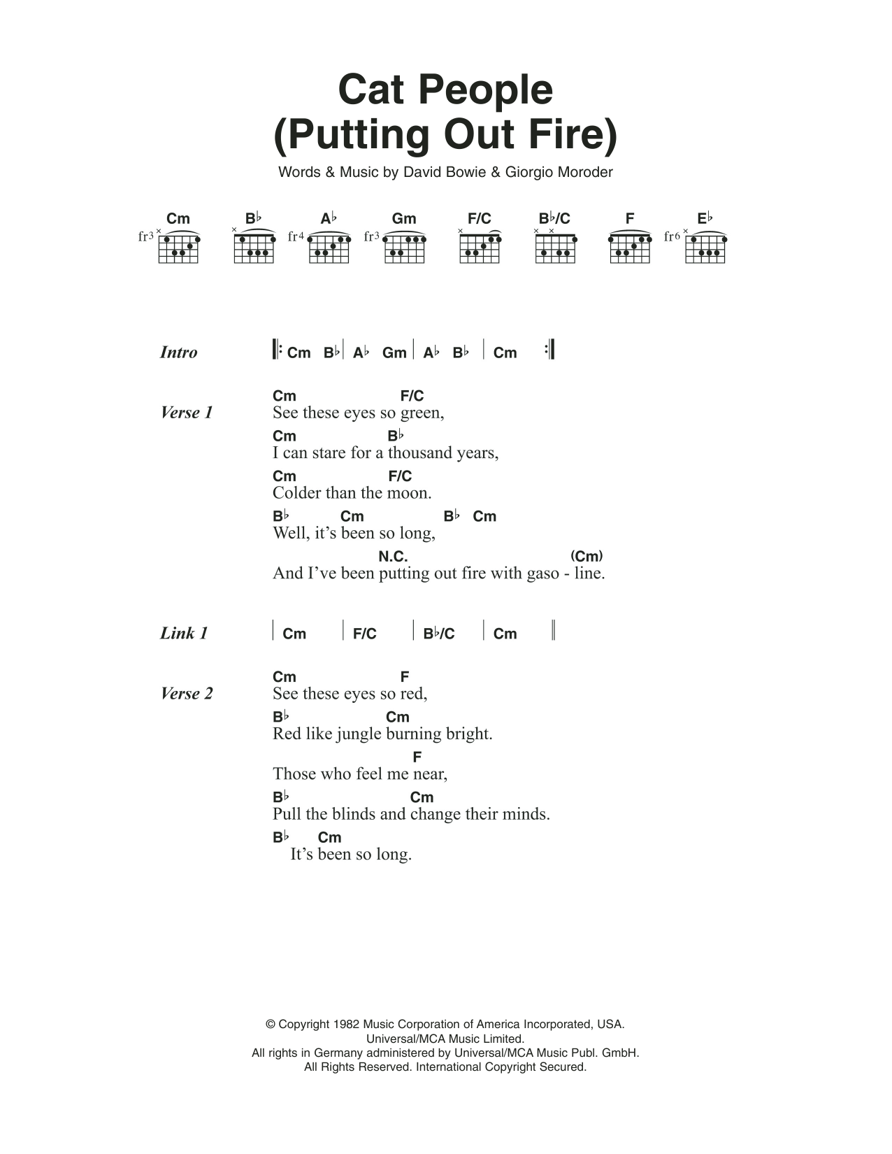 Cat people putting out fire by david bowie guitar chords the most accurate tab hexwebz Gallery