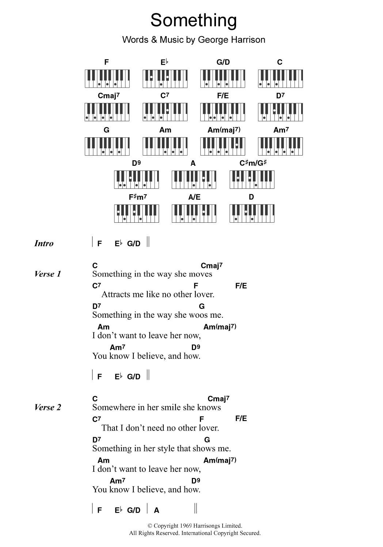 Something Noten   The Beatles   Klavier Akkorde/Texte