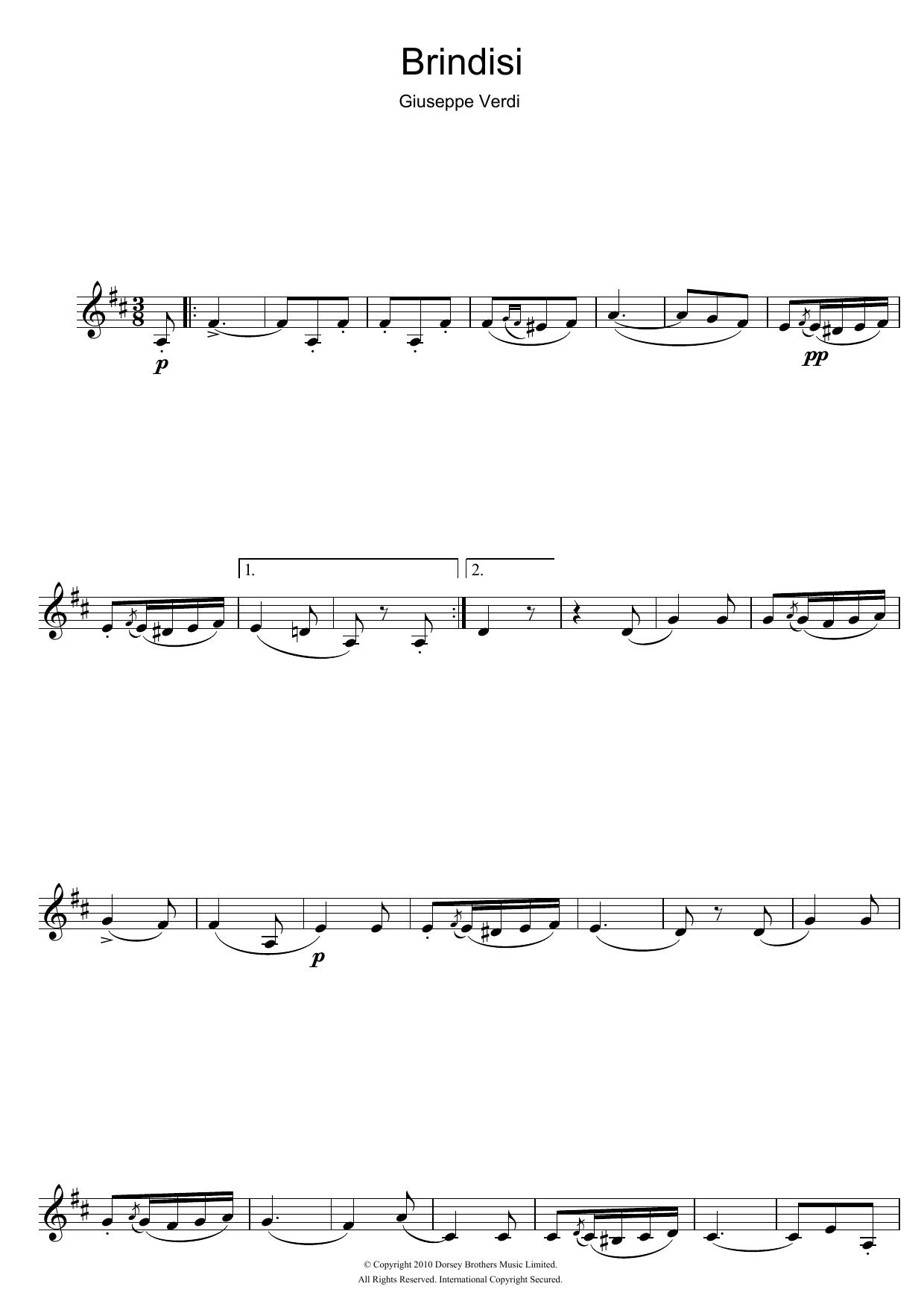 Brindisi (from La Traviata) (Clarinet Solo)