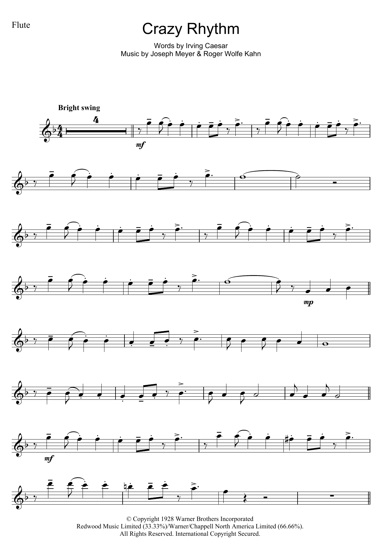 Crazy Rhythm Sheet Music