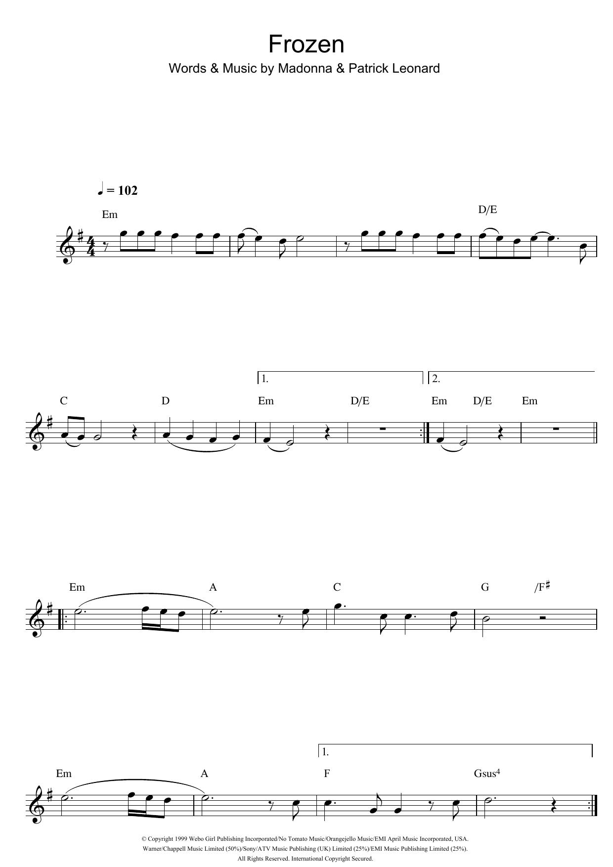 Frozen (Flute Solo)
