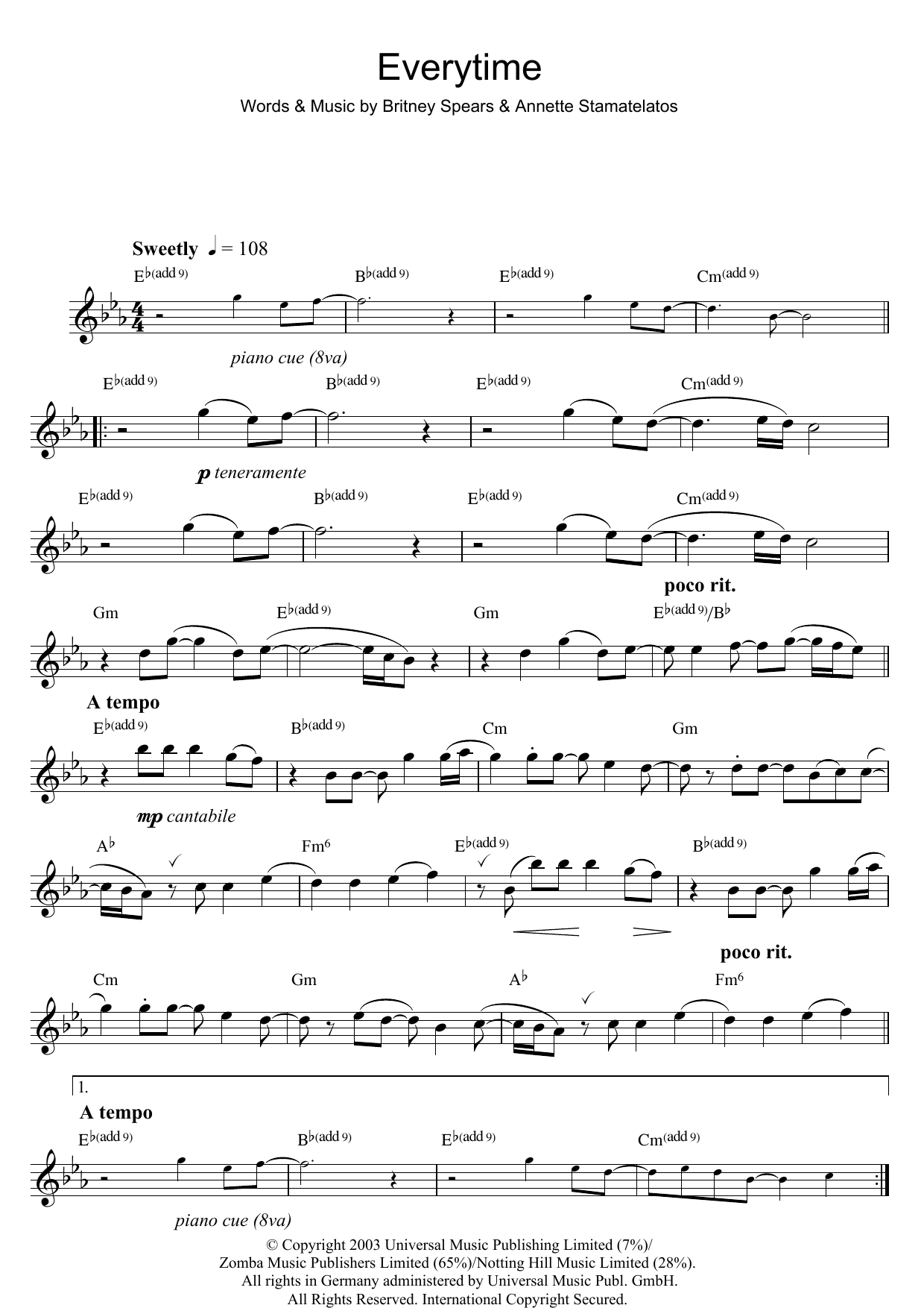 Everytime (Flute Solo)
