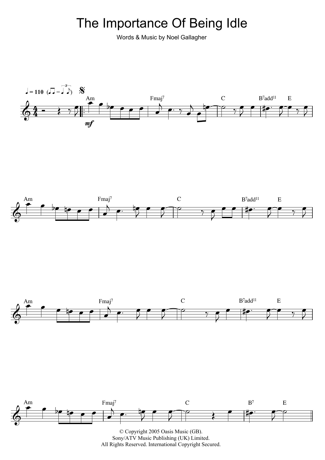 The Importance Of Being Idle (Flute Solo)