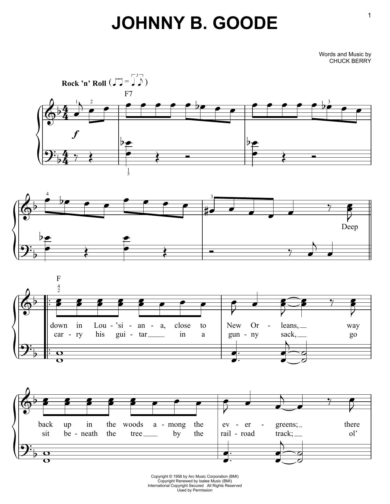 Johnny B. Goode (Easy Piano)