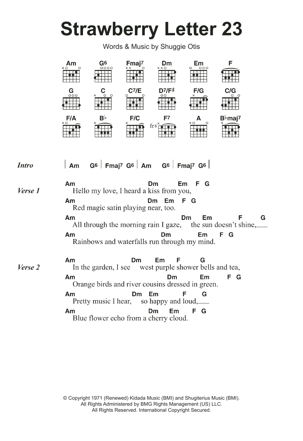 Strawberry Letter 23 by The Brothers Johnson Guitar Chords