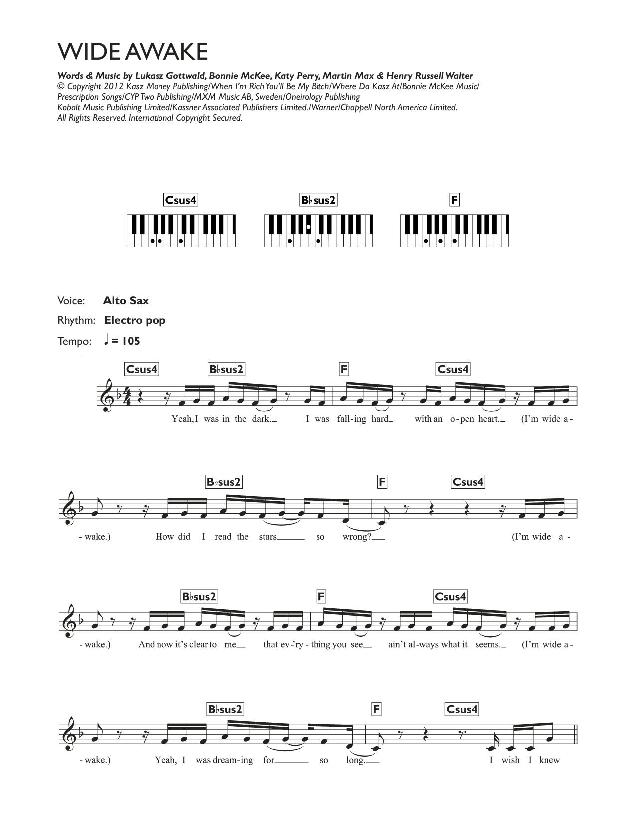 Wide Awake Katy Perry Keyboard