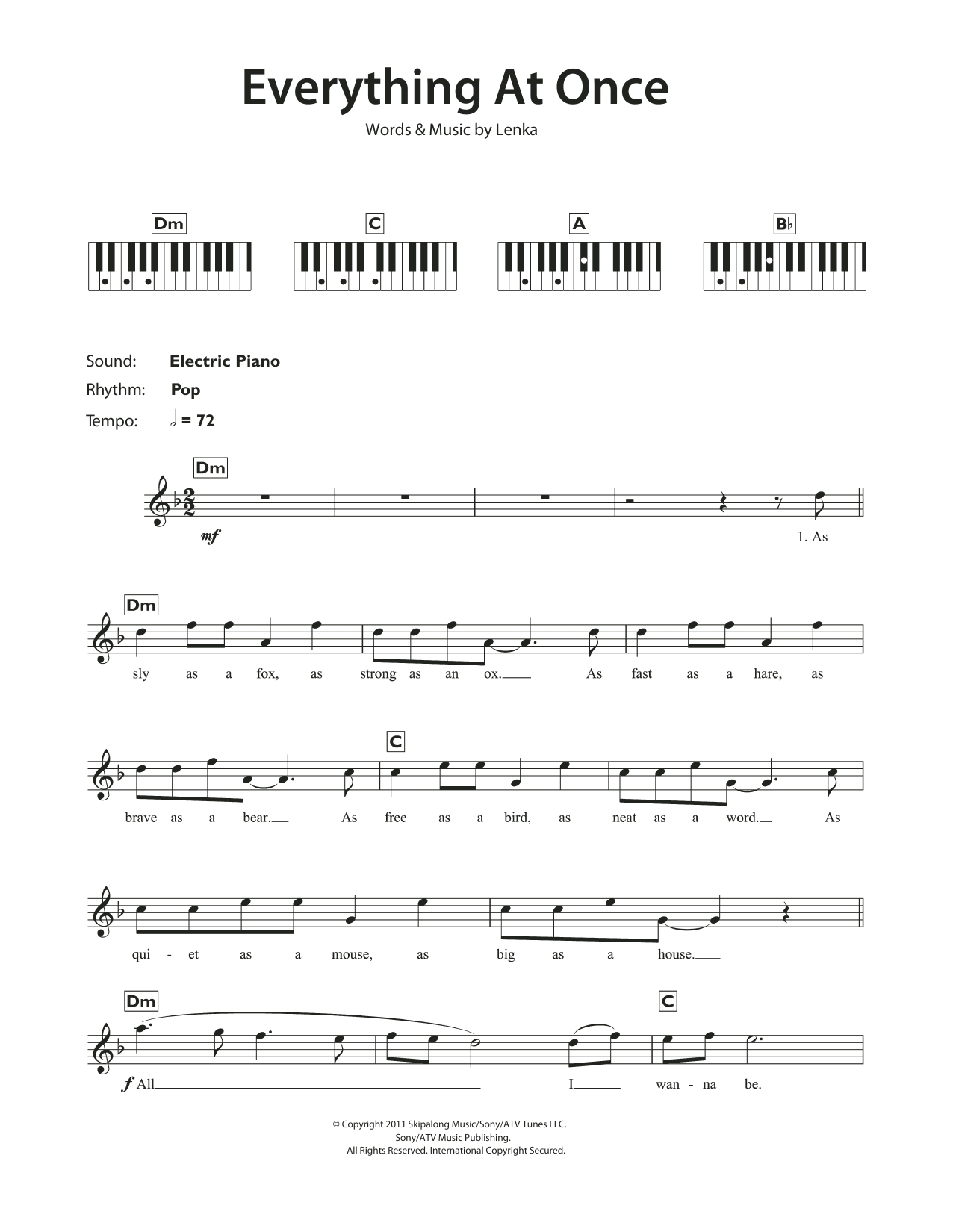 Everything At Once Sheet Music