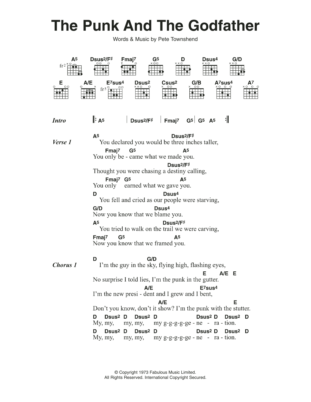Dsus guitar chord gallery guitar chords examples the punk and the godfather by the who guitar chordslyrics the most accurate tab fatherlandz gallery hexwebz Image collections