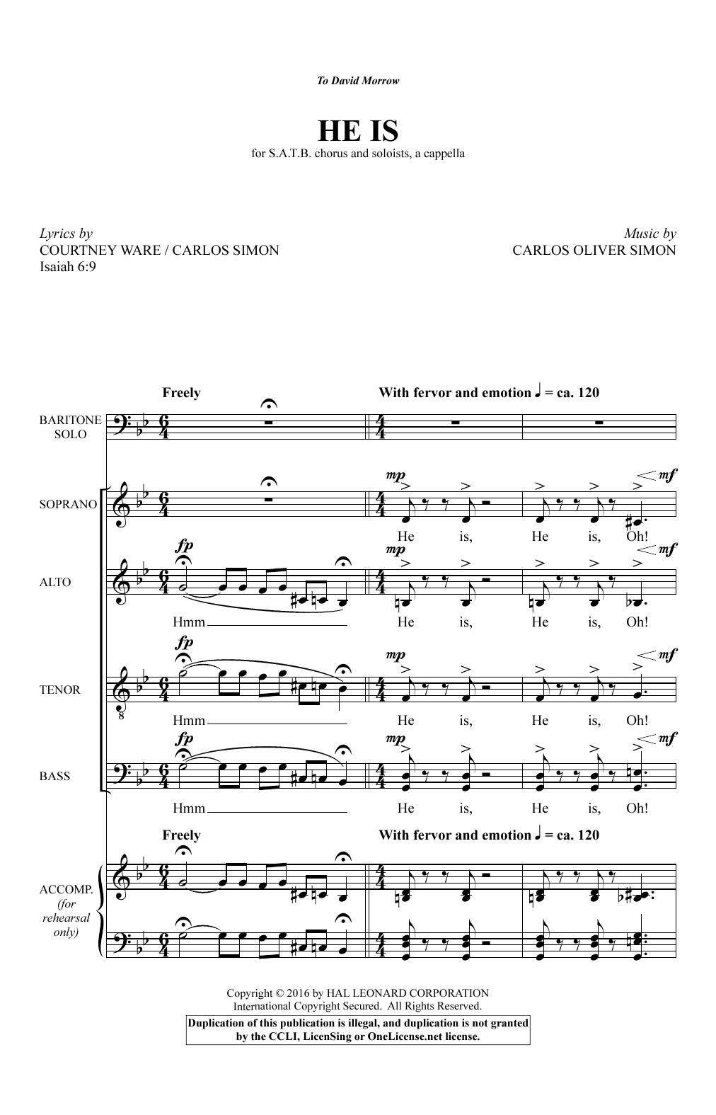 He Is (SATB Choir)