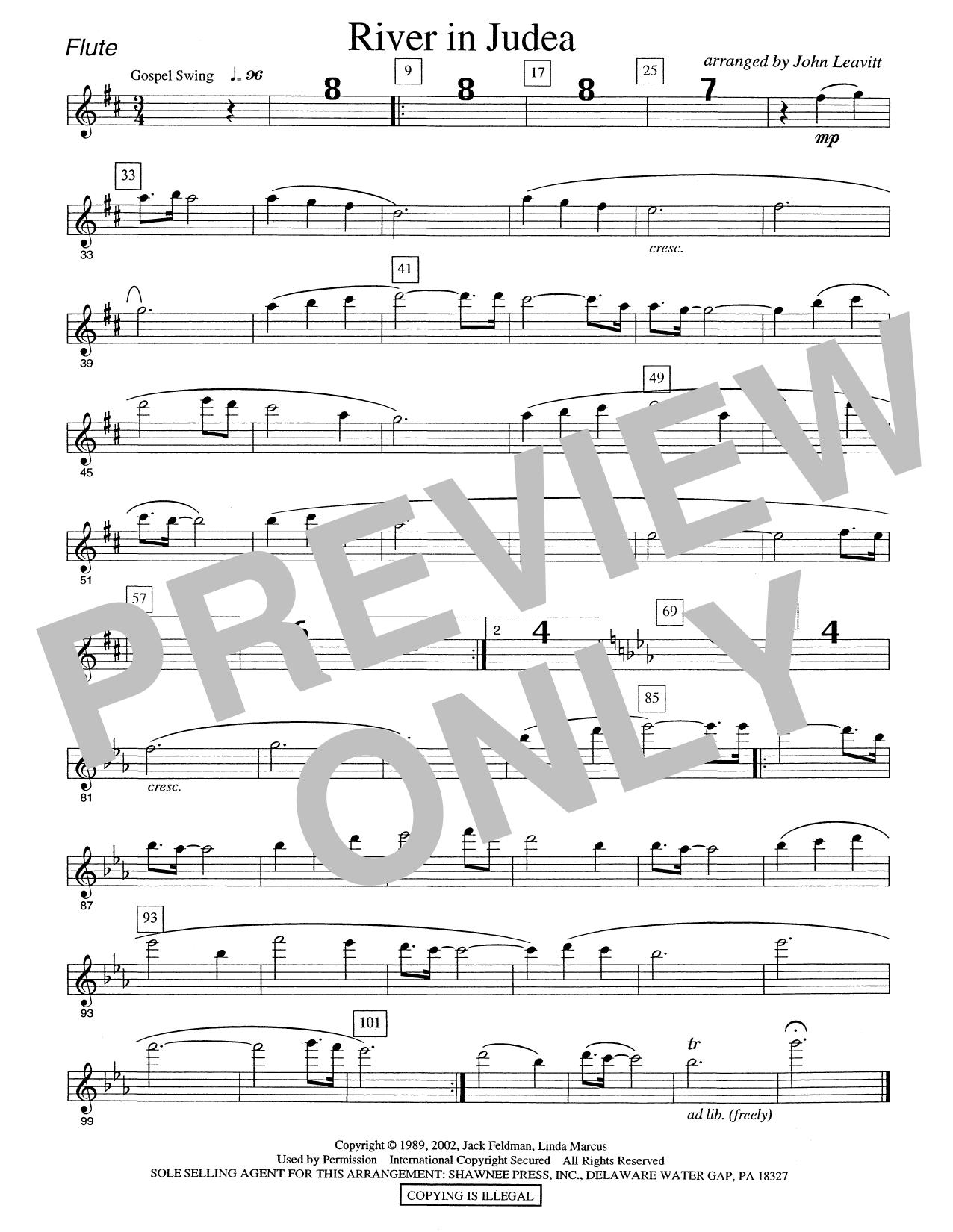 River in Judea - Flute Sheet Music