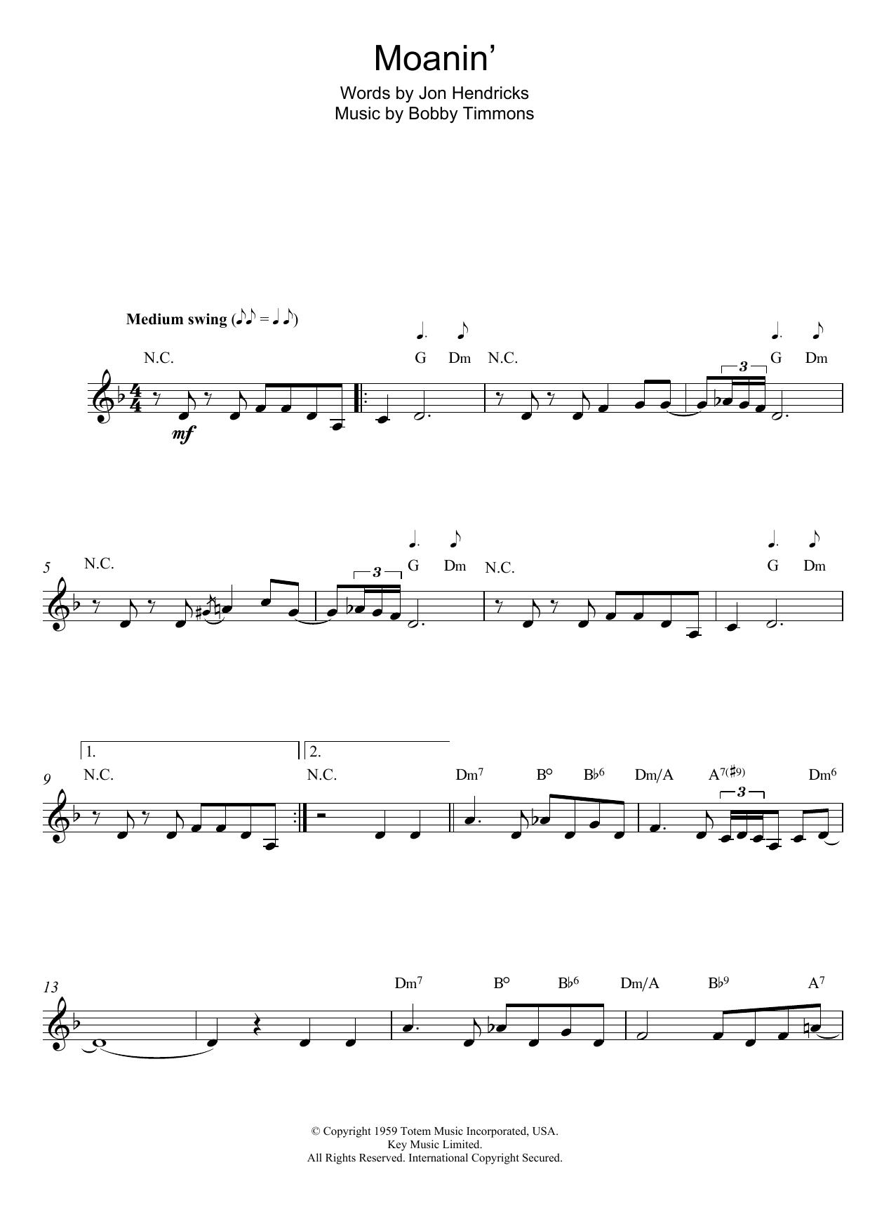 Sheet Music Digital Files To Print - Licensed Jon Hendricks