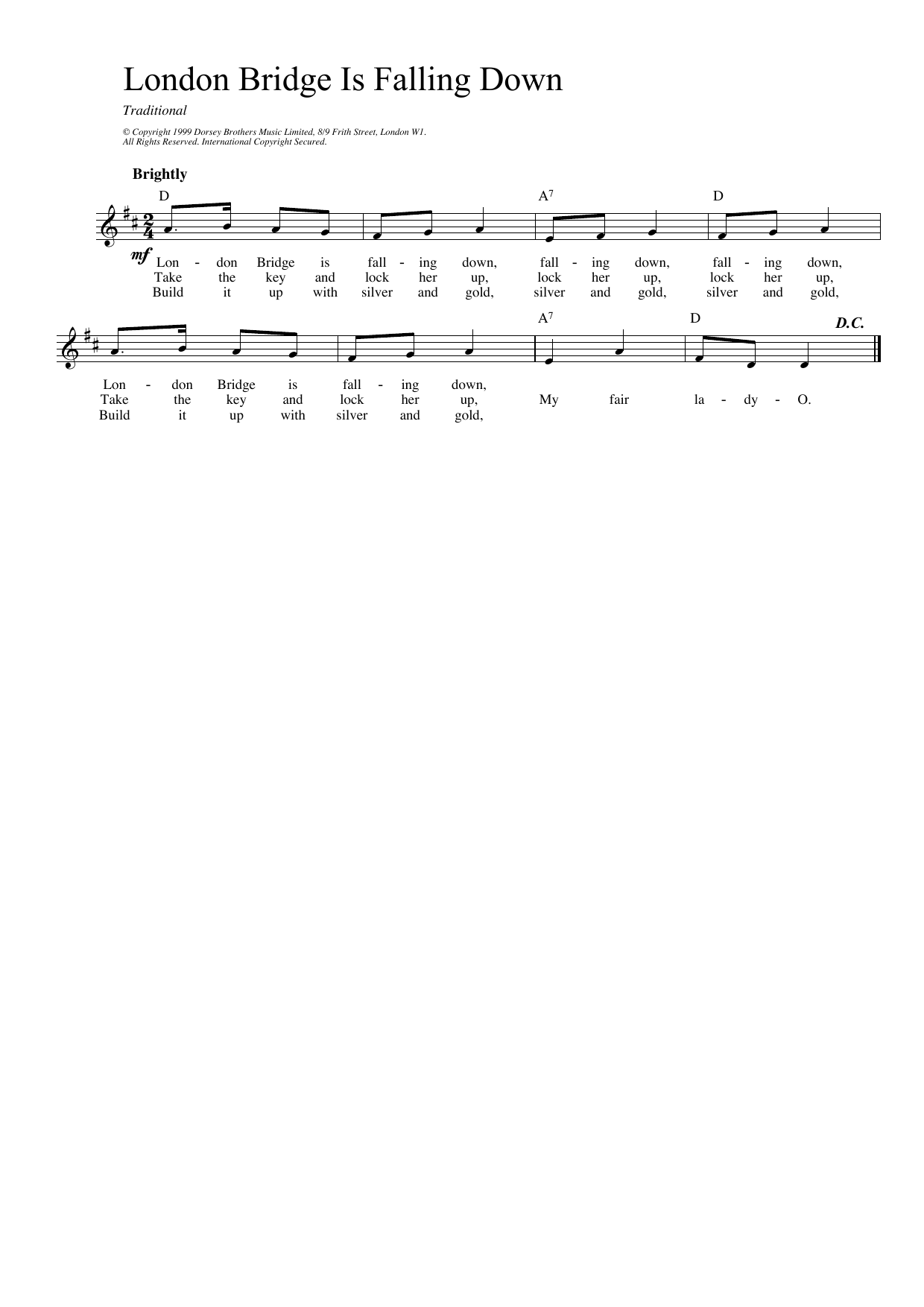 London Bridge Sheet Music