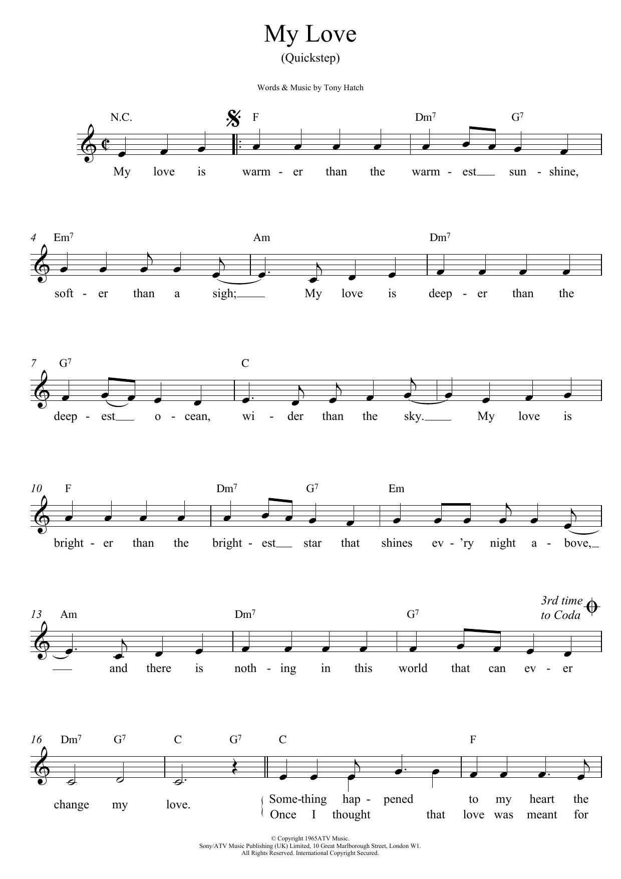 My Love (Quickstep) Sheet Music