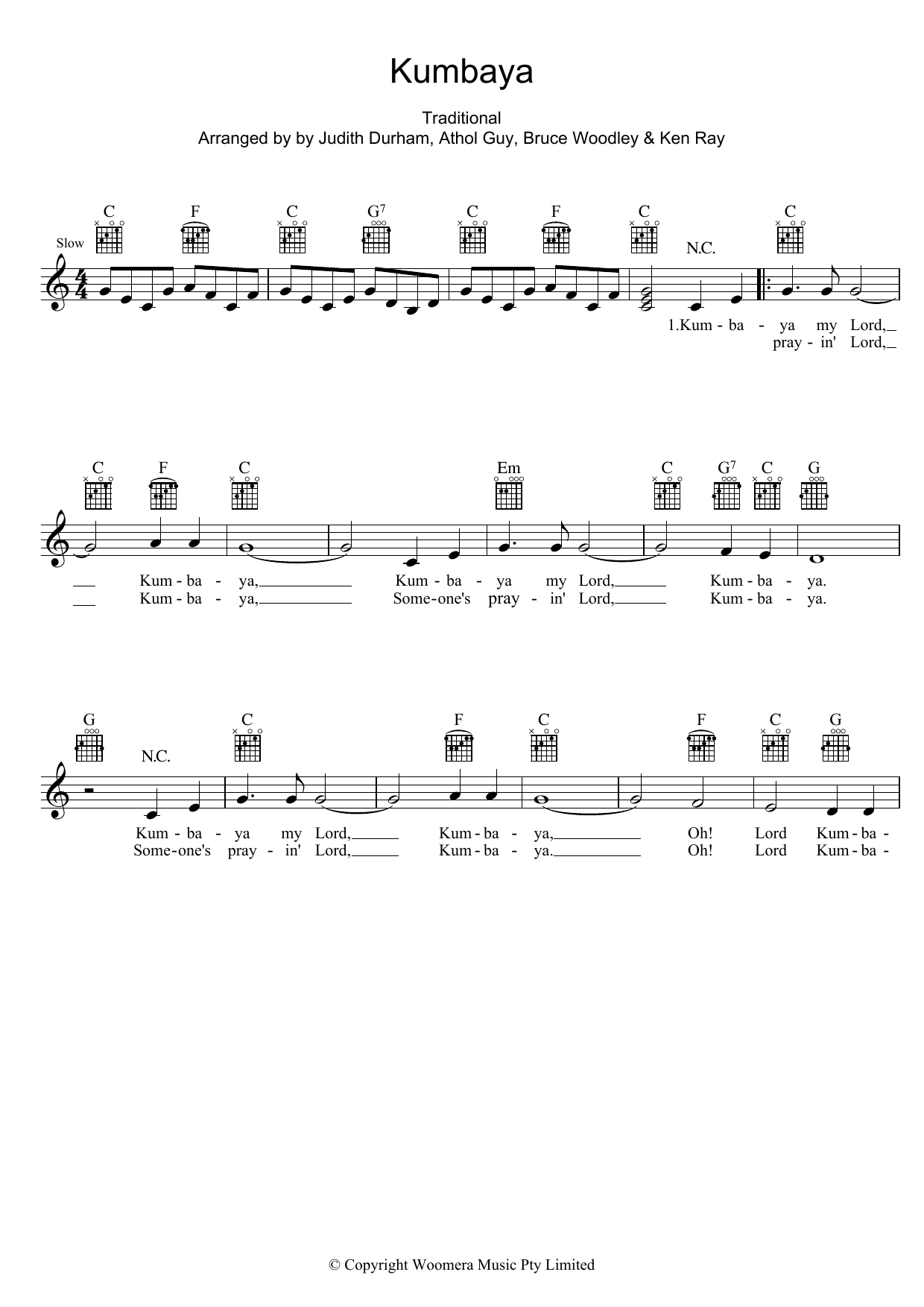 Kumbaya Sheet Music