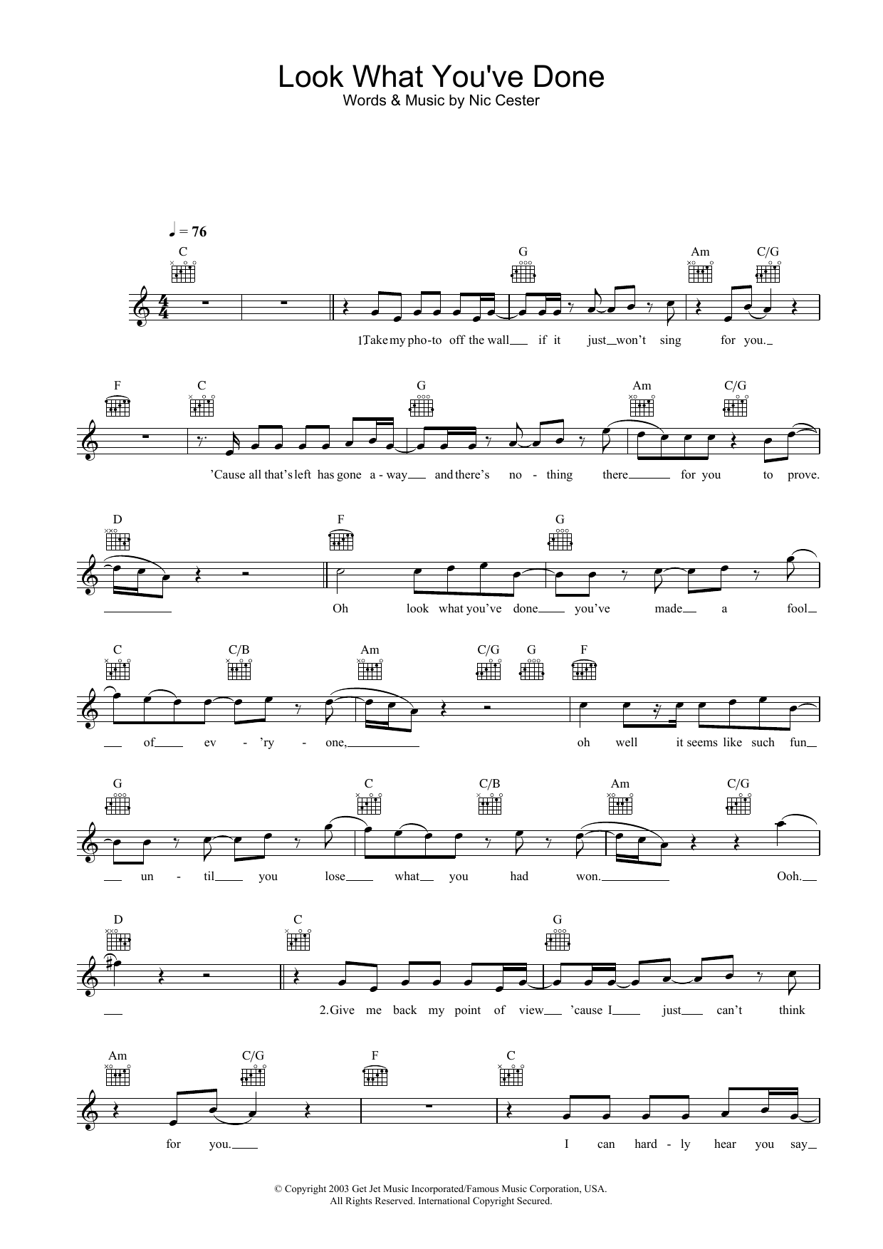 Look What You've Done Sheet Music