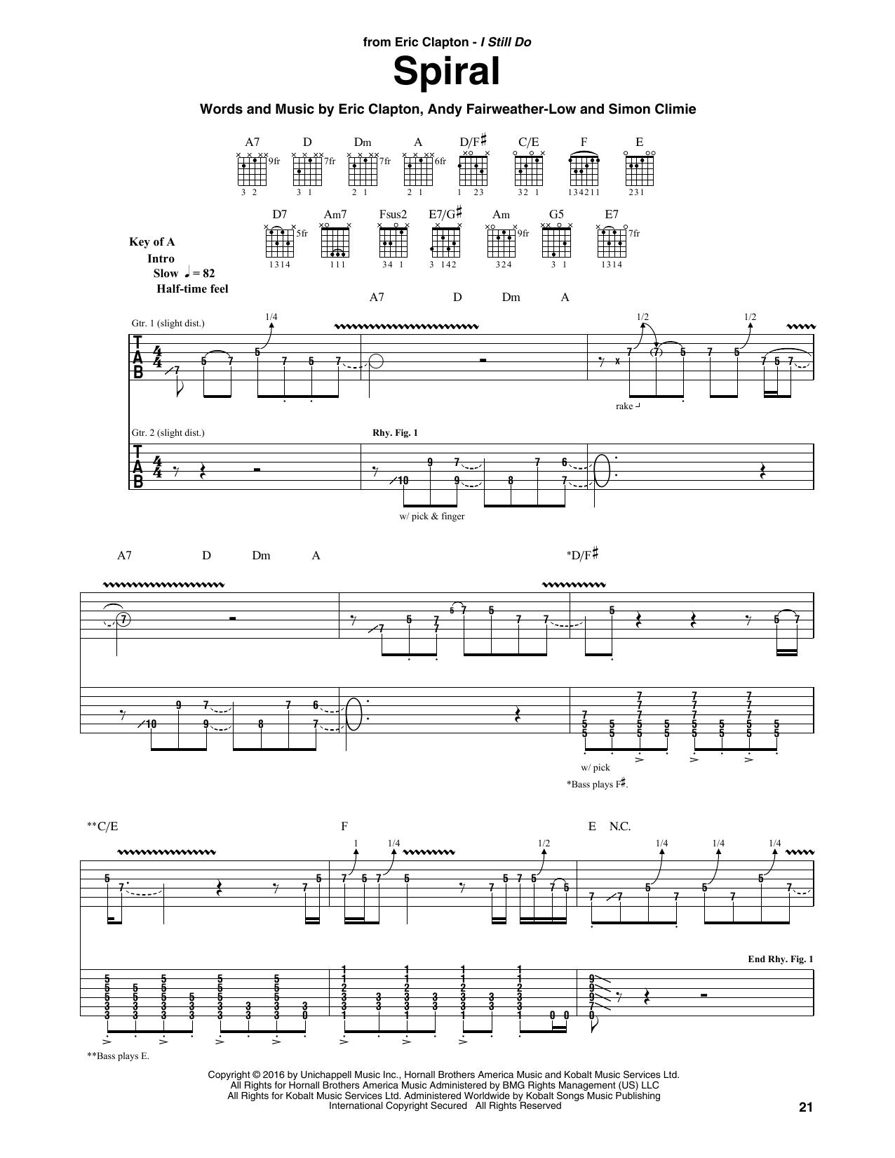 Spiral (Guitar Rhythm Tab)