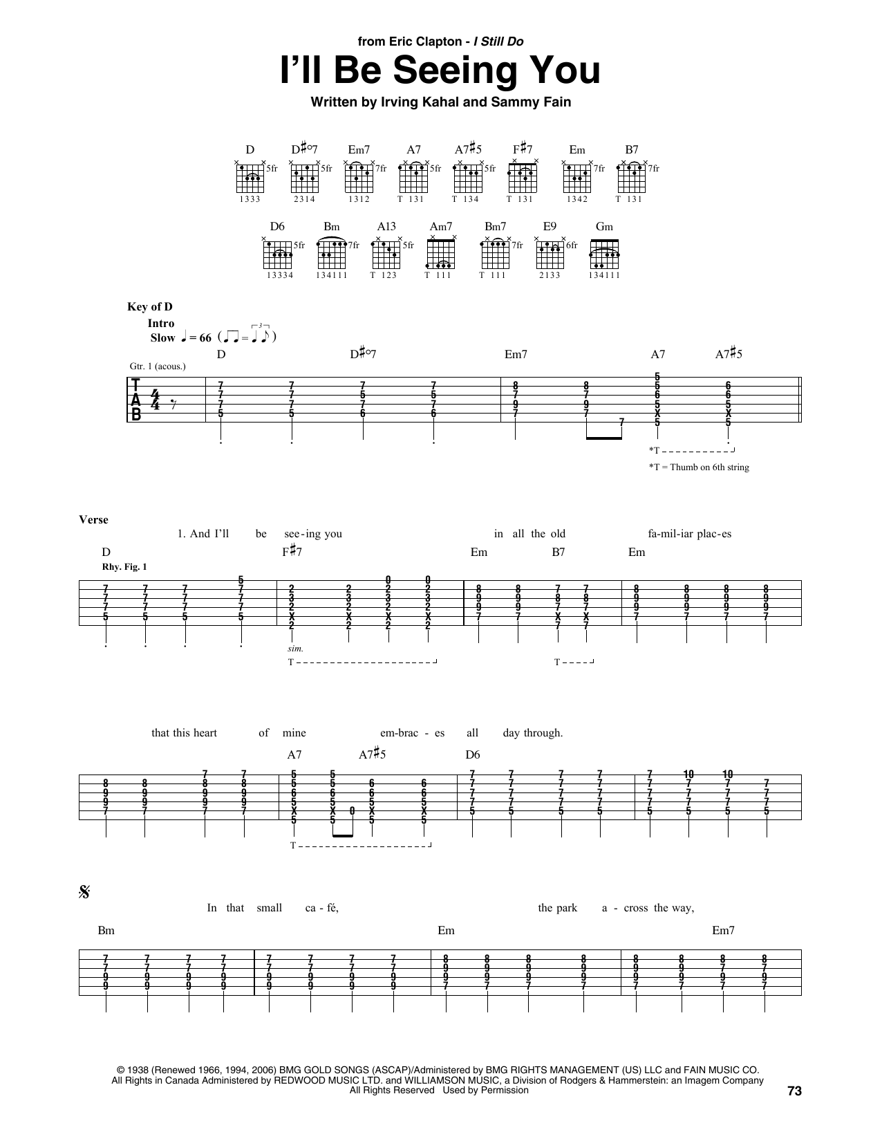 I'll Be Seeing You (Guitar Tab)