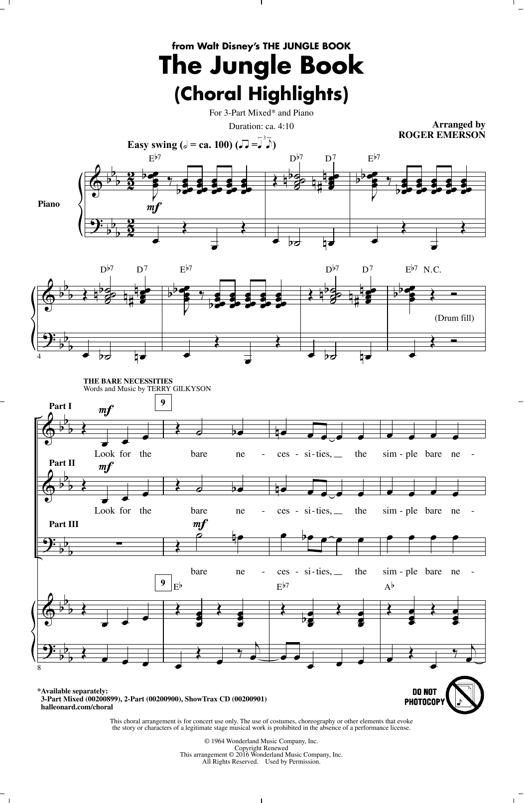 The Jungle Book (Choral Highlights) Sheet Music