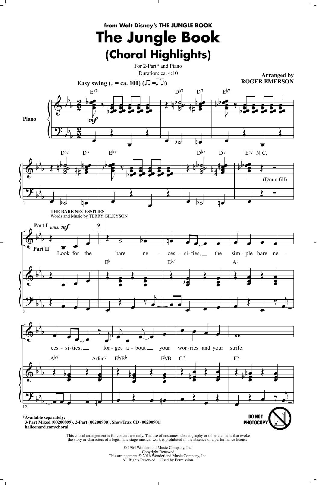 The Jungle Book (Choral Highlights) (2-Part Choir)