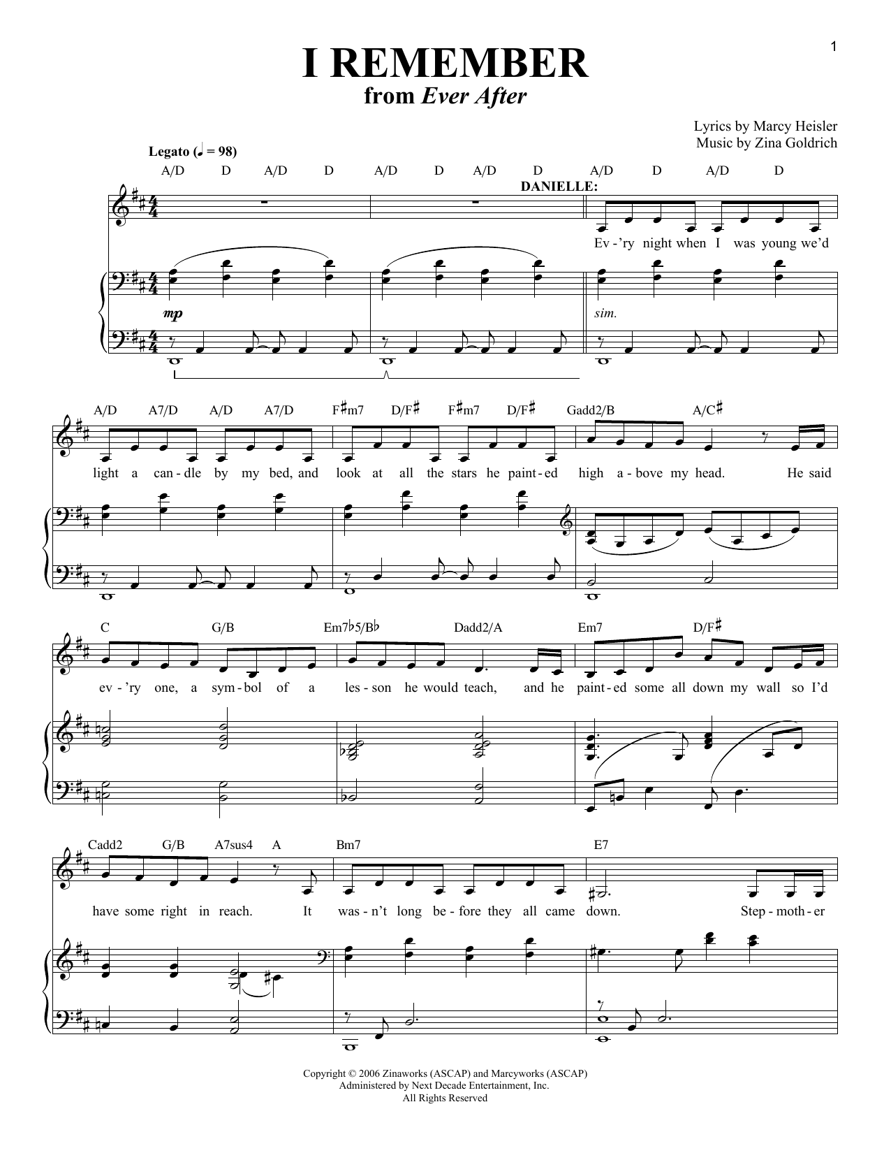 I Remember (Piano & Vocal)