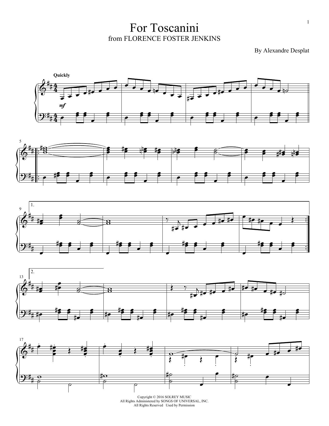 For Toscanini (Piano Solo)