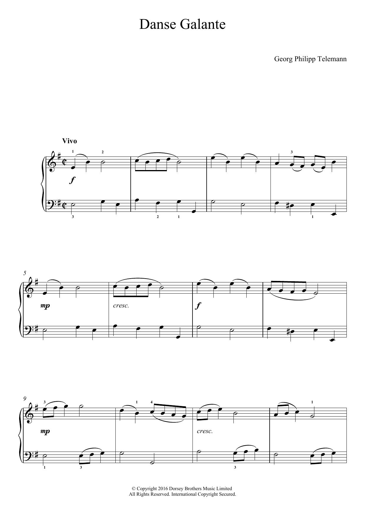 Danse Galante (Easy Piano)