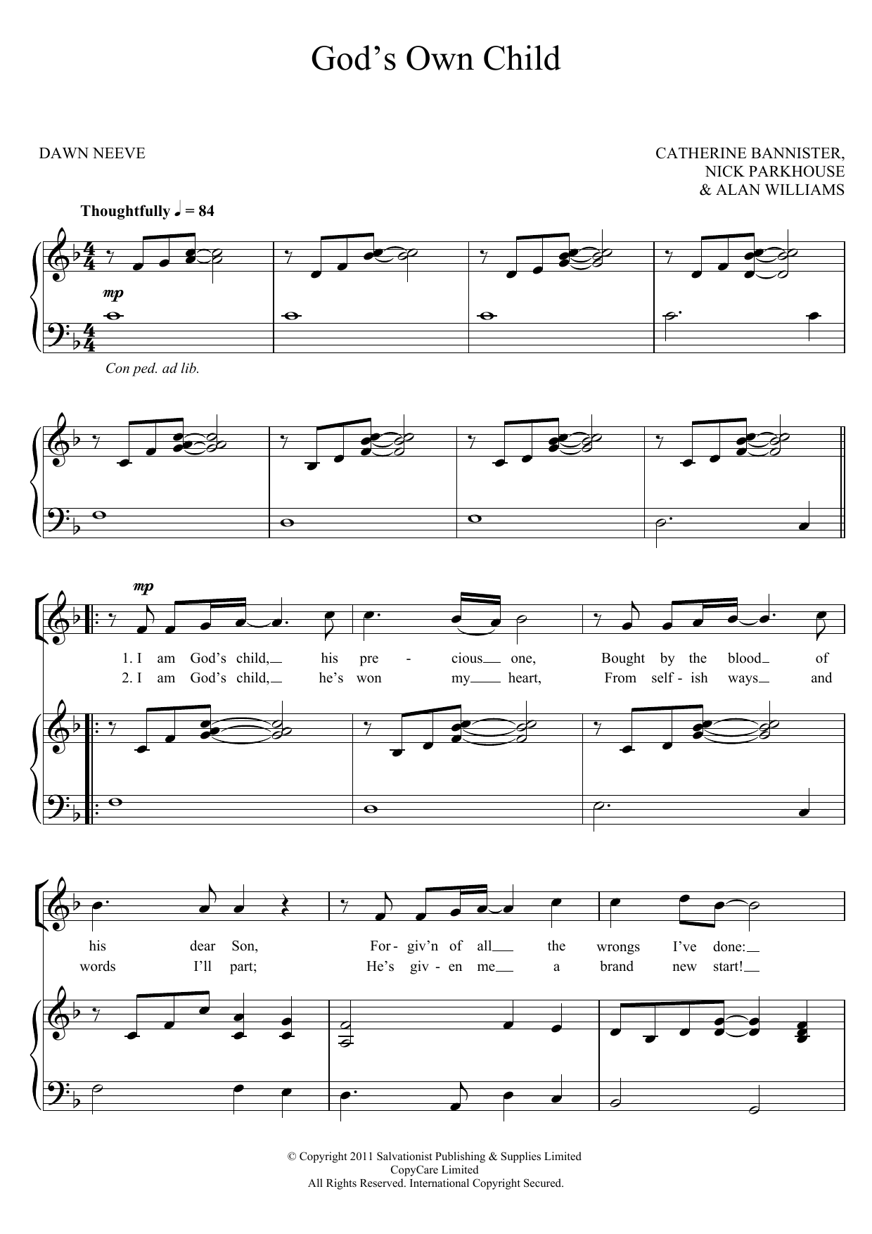 God's Own Child Sheet Music