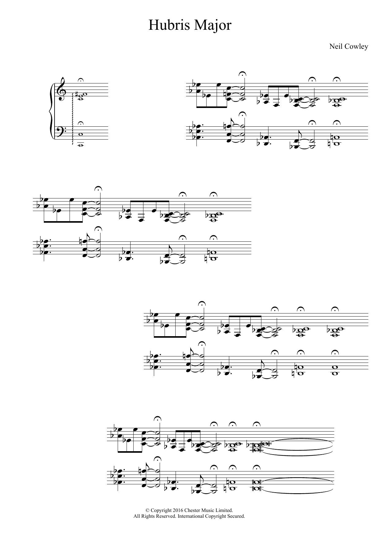 Hubris Major Sheet Music