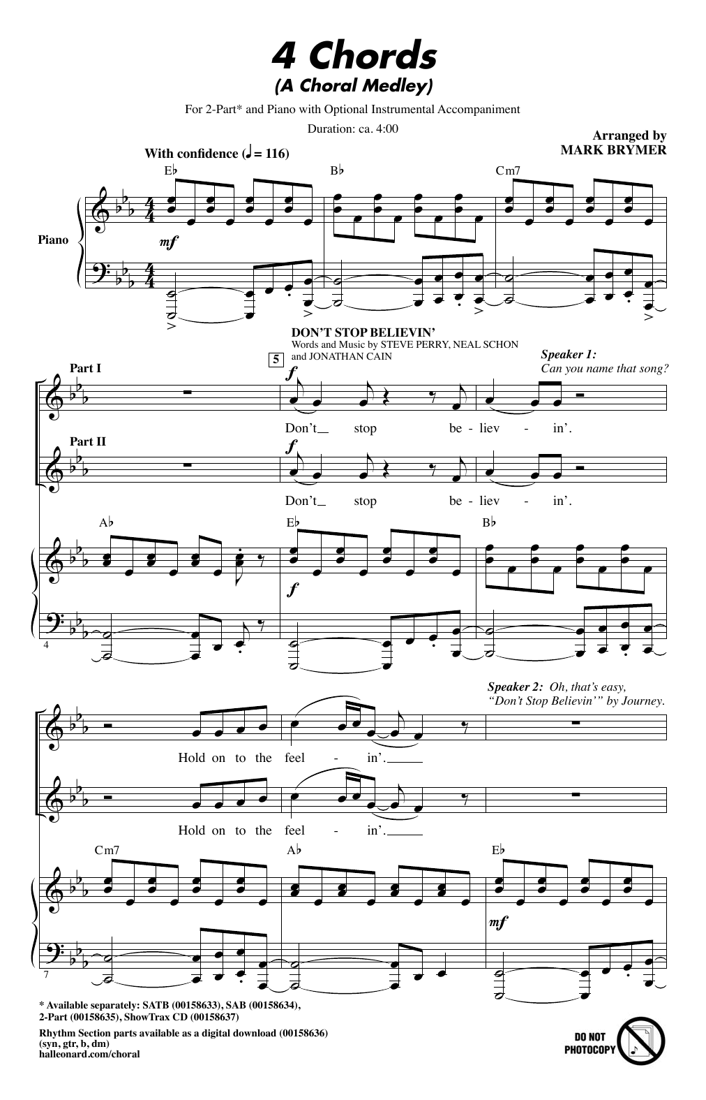 4 chords a choral medley sheet music direct sheet preview hexwebz Gallery