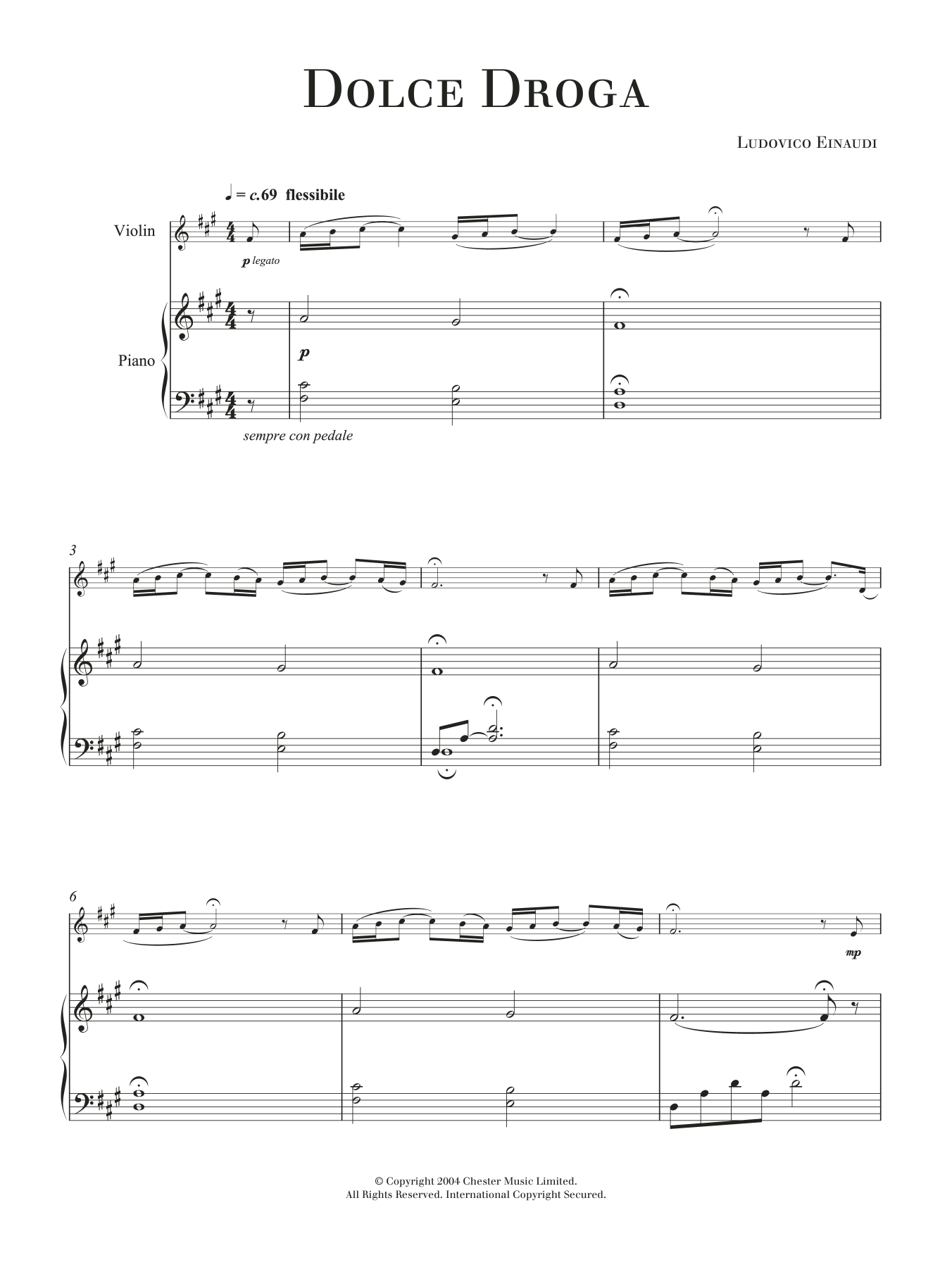 Dolce Droga Sheet Music