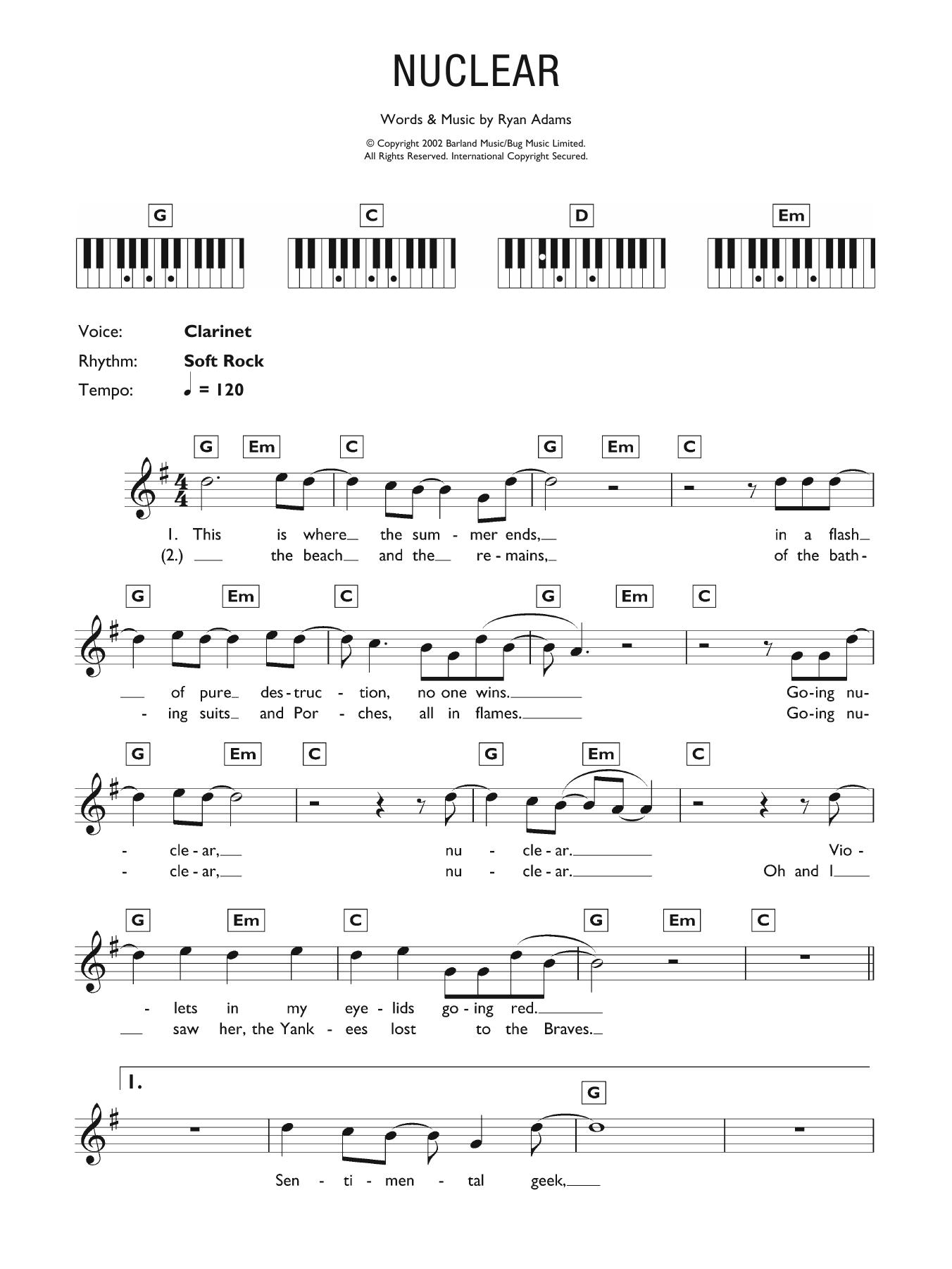 Nuclear Sheet Music