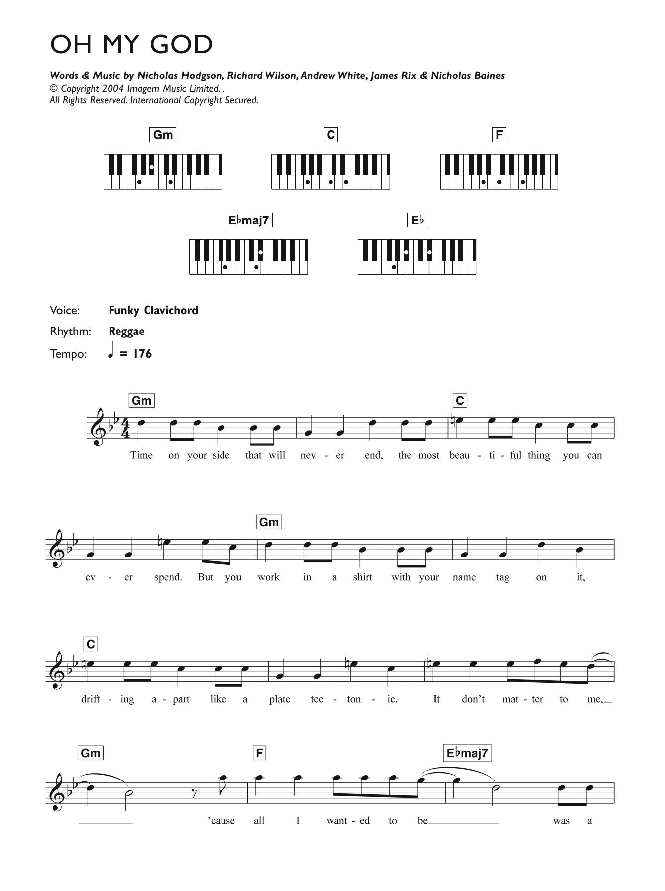 Oh My God Sheet Music