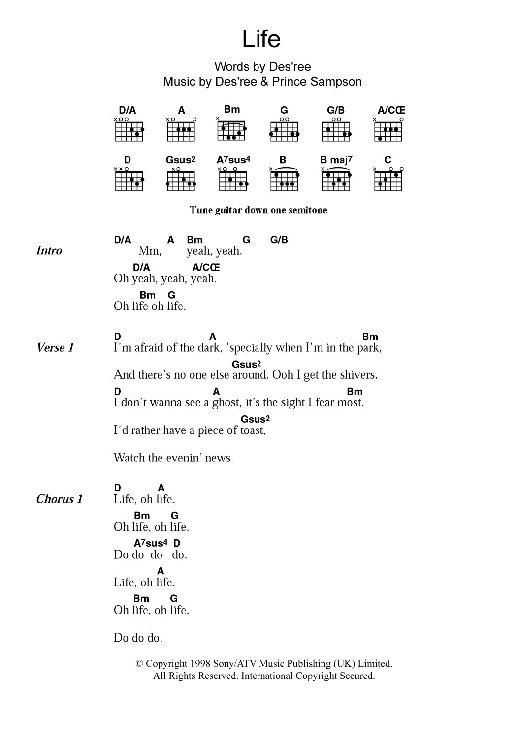 Sheet Music Digital Files To Print - Licensed Guitar Chords