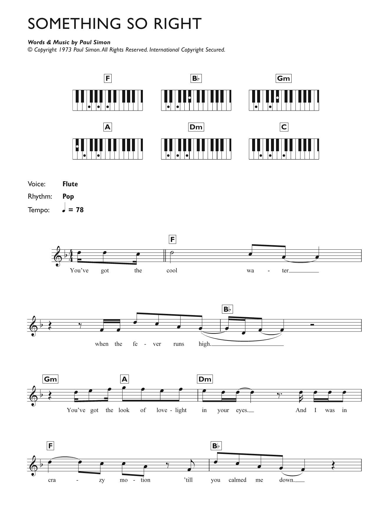 Something So Right Sheet Music