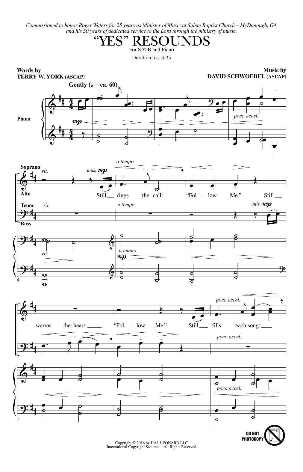 """""""Yes"""" Resounds (SATB Choir)"""