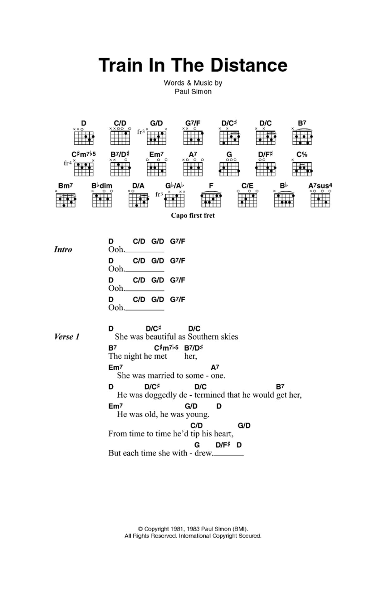 Train In The Distance Sheet Music