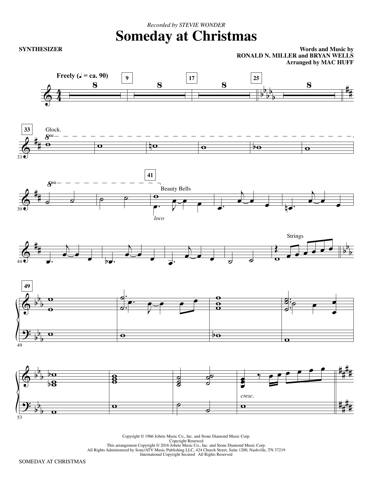 Someday at Christmas (complete set of parts) sheet music for orchestra/band by Ronald N. Miller, Bryan Wells and Mac Huff. Score Image Preview.