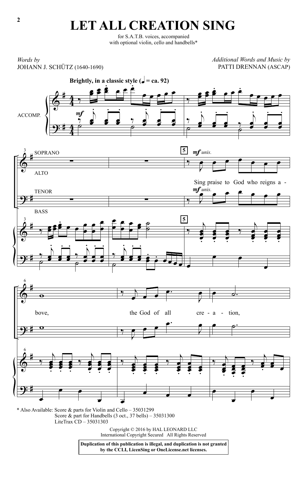 Let All Creation Sing (SATB Choir)