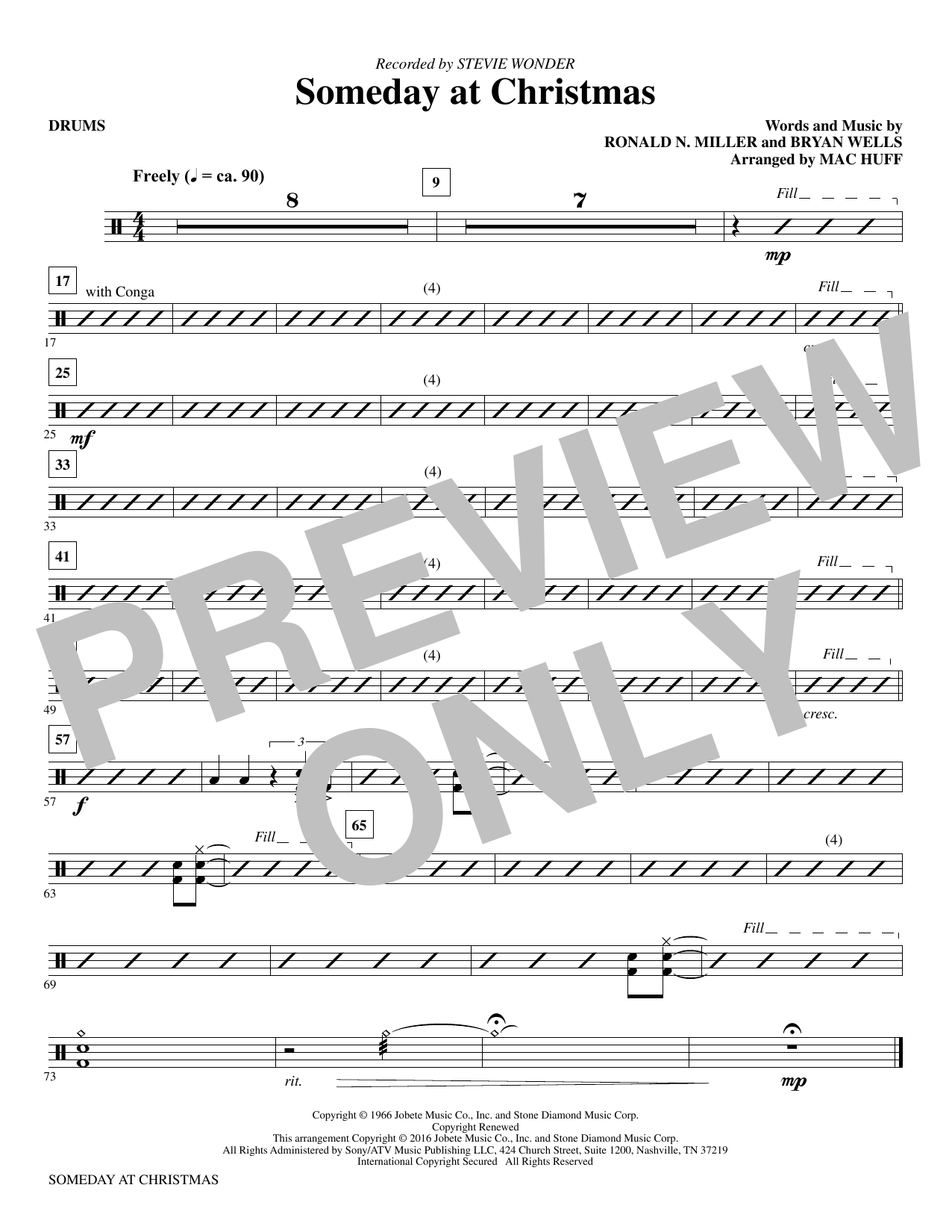 Someday at Christmas - Drums Sheet Music