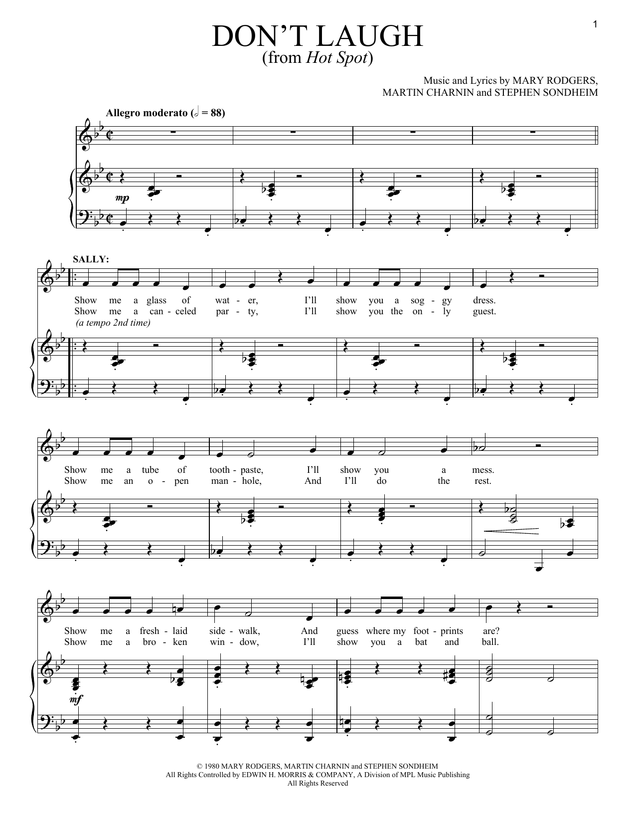 Don't Laugh (Piano & Vocal)