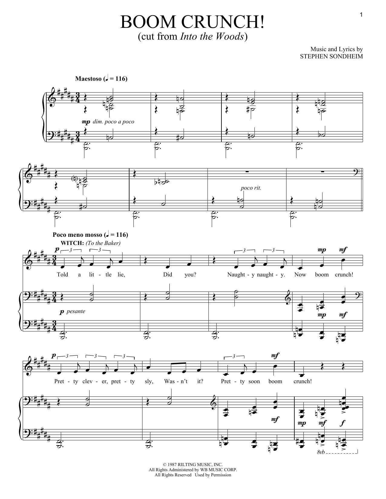 Boom Crunch (Piano & Vocal)